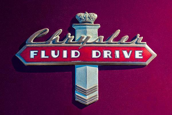 Chrysler Fluid Drive Emblem Print by Jill Reger