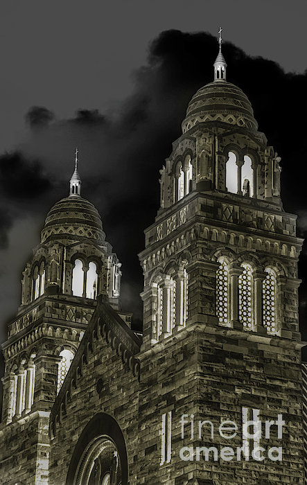 Church Lights On St. Peter Cathedral Print by Optical Playground By MP Ray