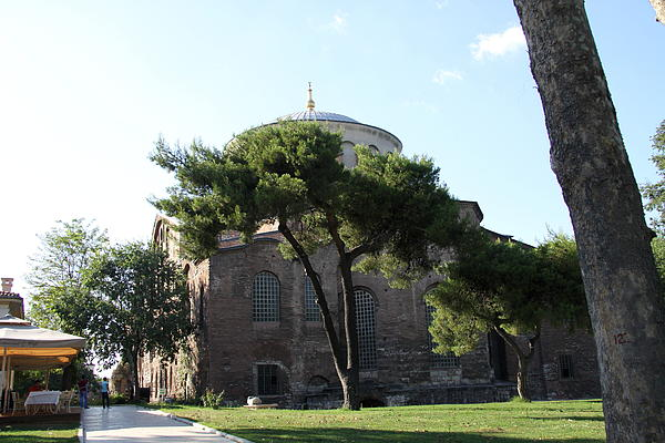 Church Of Hagia Eirene I - First Courtyard Topkapi Palace Print by Christiane Schulze Art And Photography