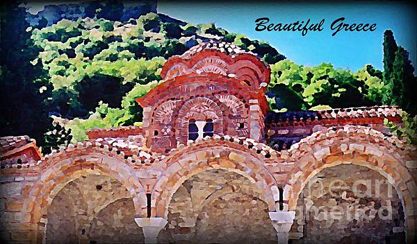 Church Ruins In Greece Print by John Malone