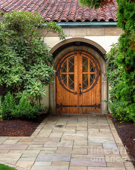 Church Side Door Print by Chris Anderson