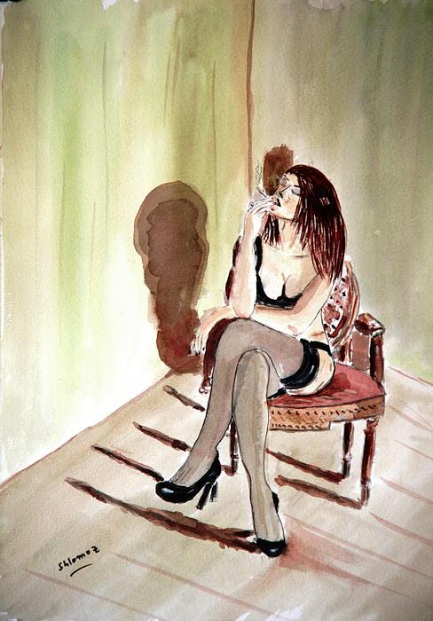 Cigarette Passion. Print by Shlomo Zangilevitch