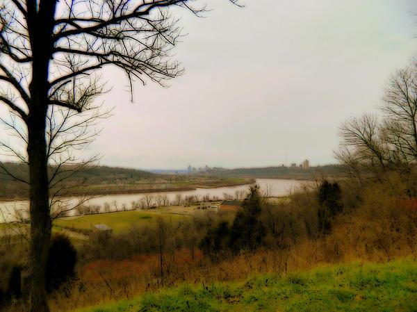 Kathy Barney - Cincinnati and the Ohio River Looking West