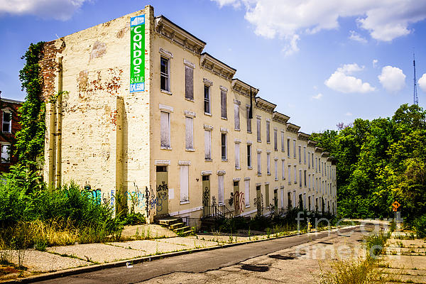 Cincinnati Glencoe-auburn Row Houses Picture Print by Paul Velgos