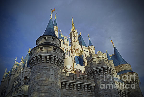 Cinderella Castle - Walt Disney World Print by AK Photography