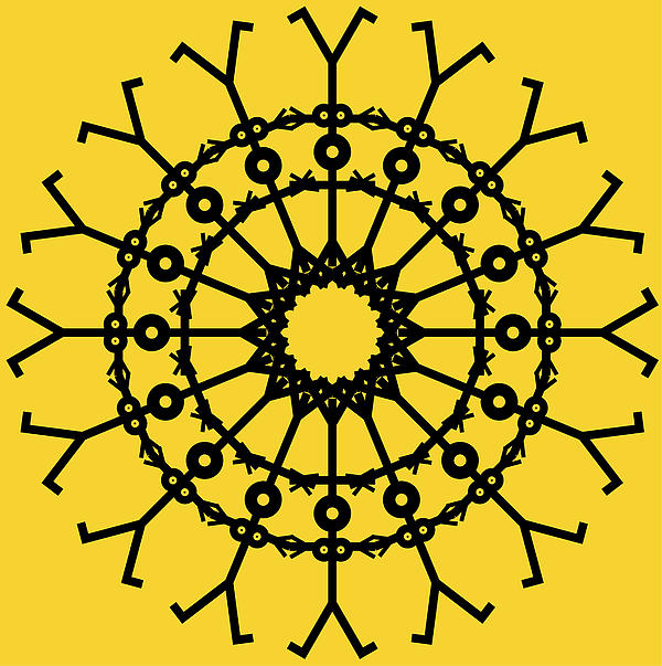 Circle 2 Icon Print by Thisisnotme