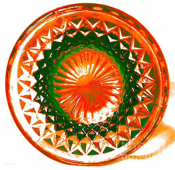 Circle Orange Print by Anita Lewis