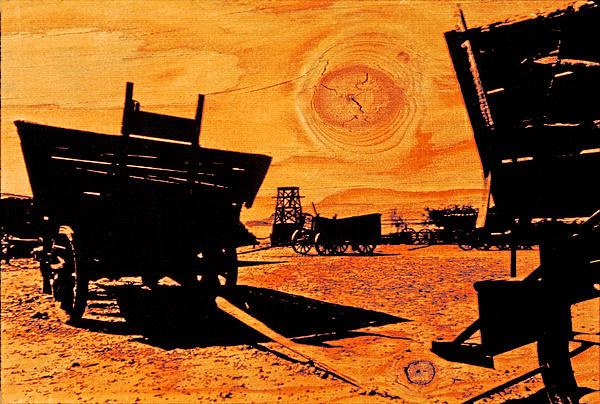 Circle The Wagons Print by Mike Flynn