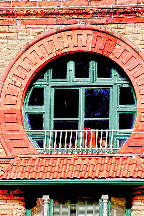 Circle Window Print by Suzanne Barber