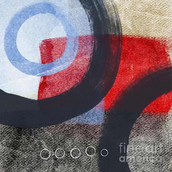 Circles 1 Print by Linda Woods