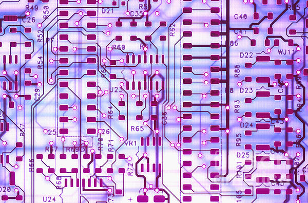 Circuit Trace II Print by Jerry McElroy