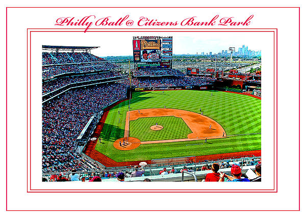 Citizens Bank Park Phillies Baseball Poster Image Print by A Gurmankin
