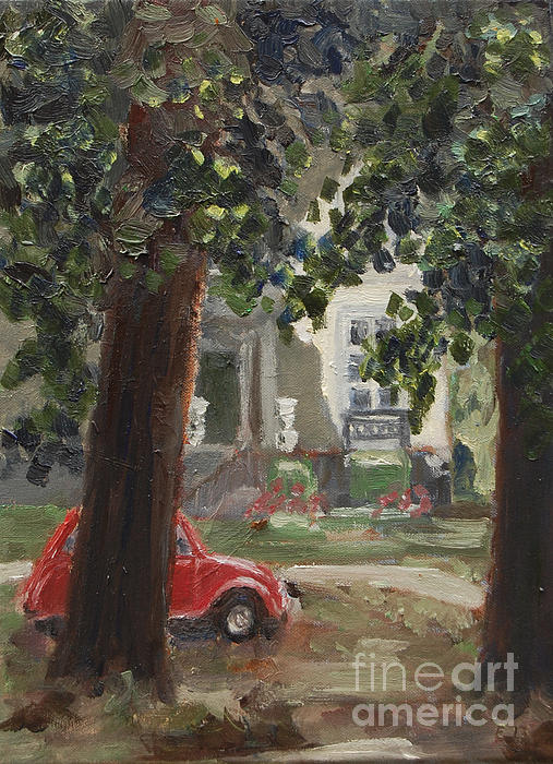 Citroen 2cv And Marialust Apeldoorn Print by Ernst Dingemans