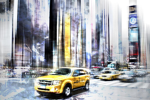 City-art Times Square II Print by Melanie Viola