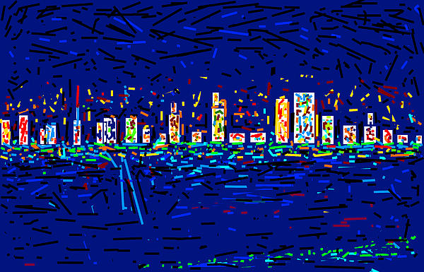 City At Night Print by Anand Swaroop Manchiraju