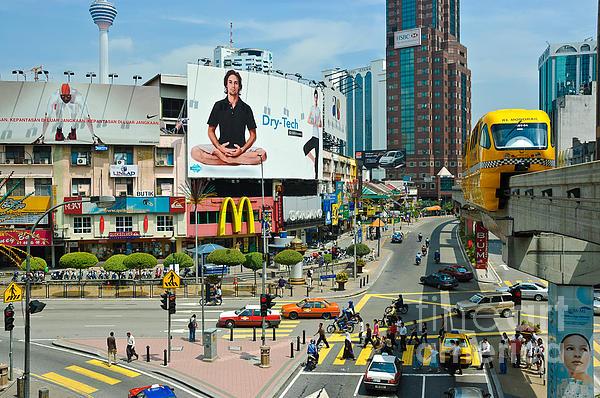 City Centre Scene - Kuala Lumpur - Malaysia Print by David Hill