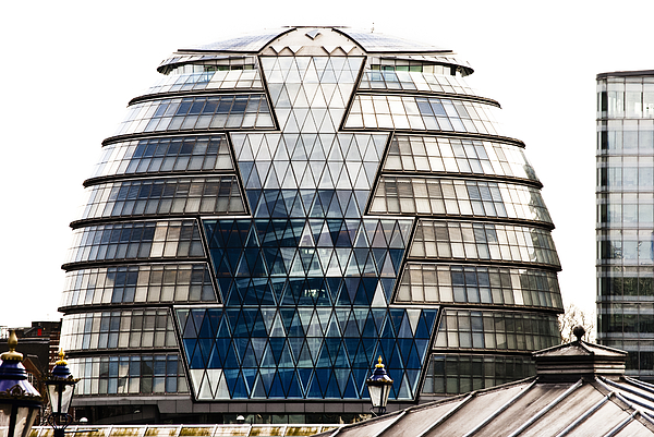 City Hall London Print by Christi Kraft