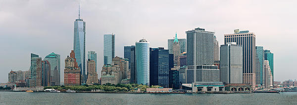 City - Ny - The Financial District Print by Mike Savad