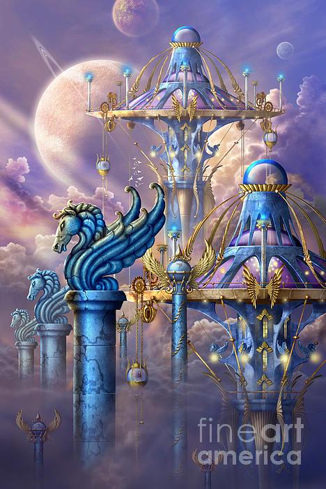 City Of Swords Print by Ciro Marchetti