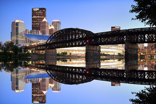 City Reflections Print by Emmanuel Panagiotakis