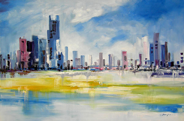 Cityscape Print by Ahmed Amir