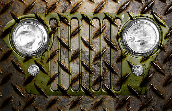 Civilian Jeep- Olive Green Print by Luke Moore