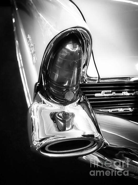 Classic Car Tail Fin Print by Edward Fielding