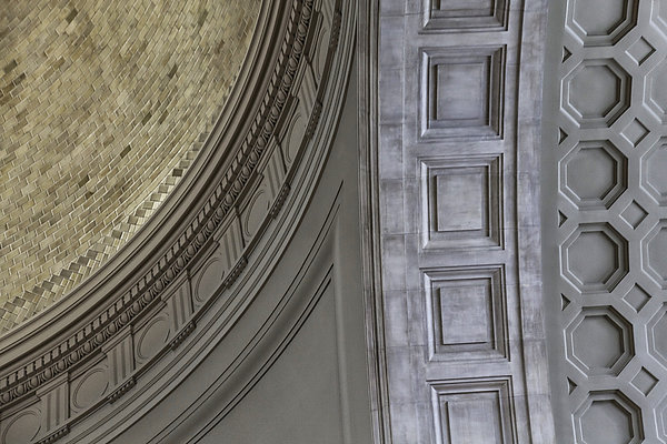 Classical Dome And Vault Details Print by Lynn Palmer