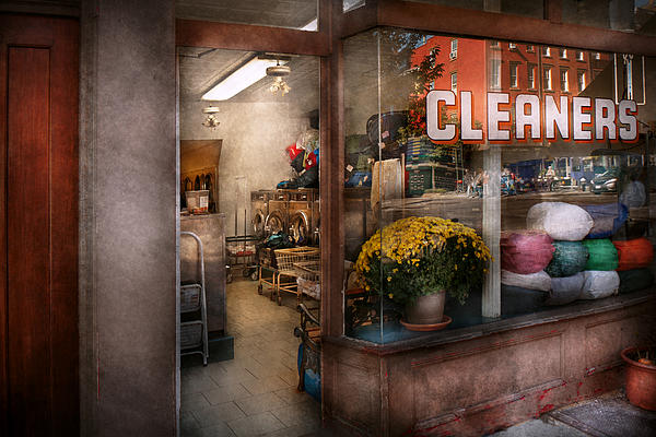 Cleaner - Ny - Chelsea - The Cleaners Print by Mike Savad