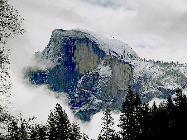 Clearing Storm Around Half Dome Print by Bill Gallagher