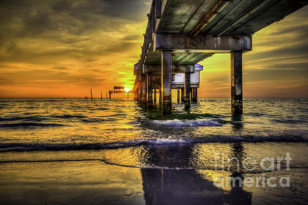 Clearwater Pier Print by Marvin Spates
