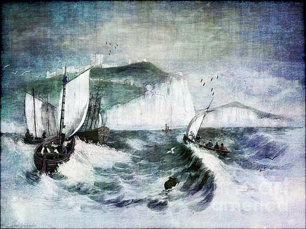 Cliffs Of Dover Print by Lianne Schneider