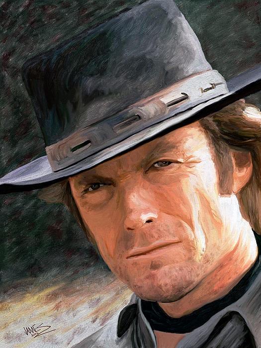 Clint Eastwood Print by James Shepherd