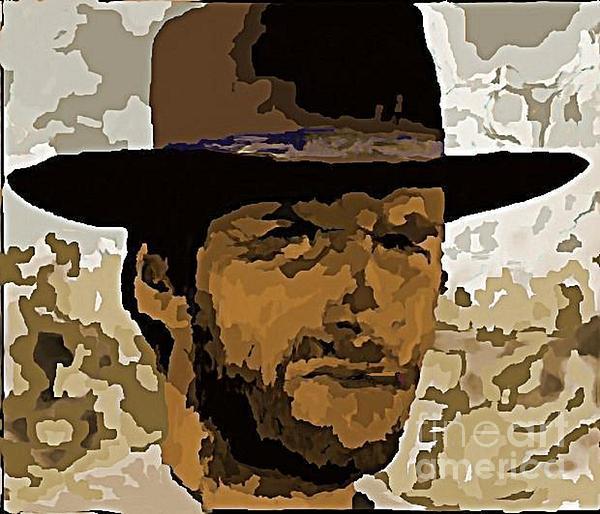 Clint Eastwood Print by John Malone