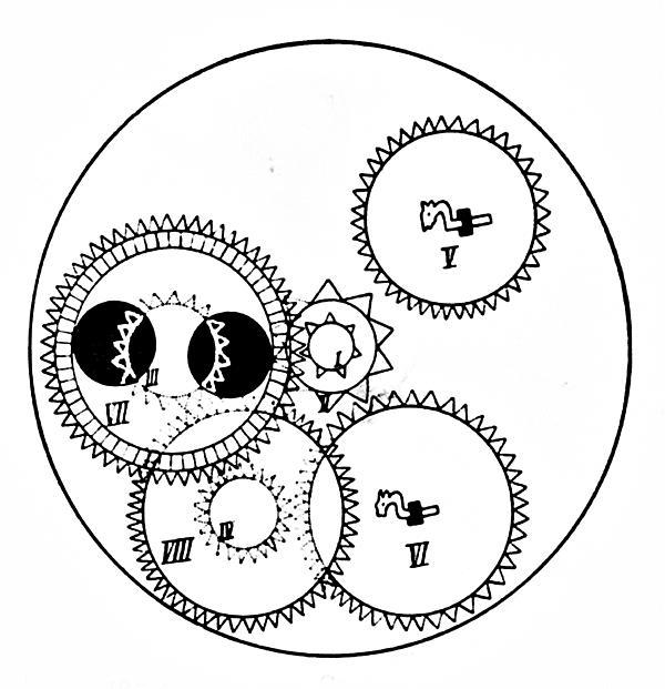 Clock Gears Print by