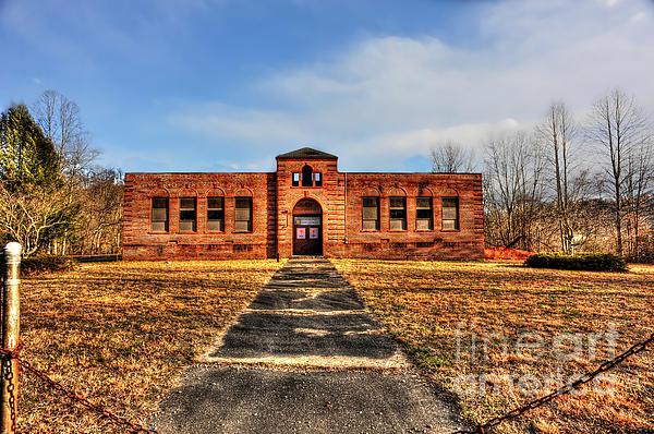 Closed School In Small Town Wv Print by Dan Friend