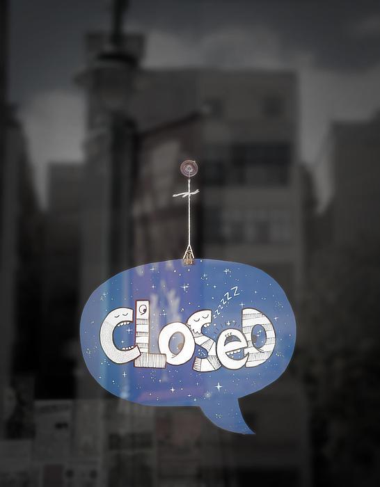 Closed Sleep Tight Print by Scott Norris
