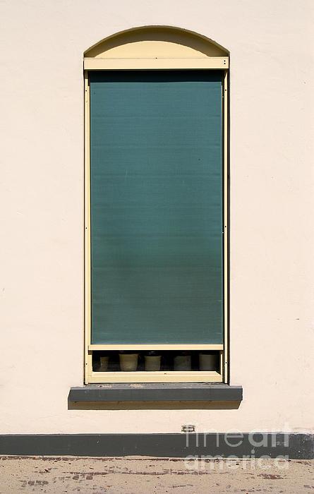 Closed Window Print by Dirk Dzimirsky