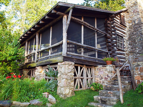Closer View Of The Cabin Print by Robert Margetts
