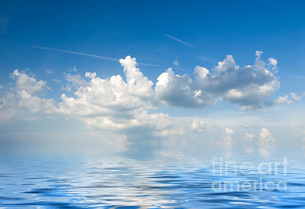 Clouds Over Sea Print by Boon Mee