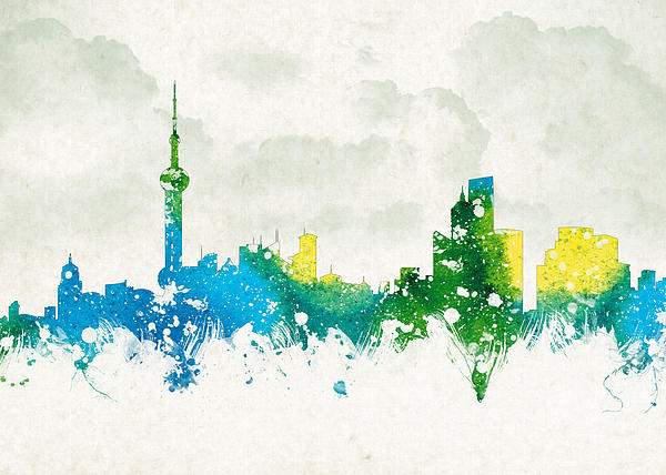 Clouds Over Shanghai China Print by Aged Pixel
