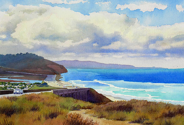 Clouds Over Torrey Pines Print by Mary Helmreich