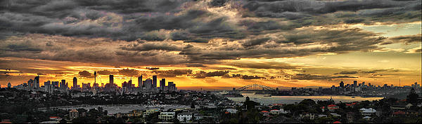Clouds Rose Over The City Print by Andrei SKY