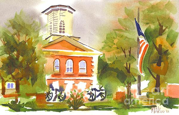 Cloudy Day At The Courthouse Print by Kip DeVore