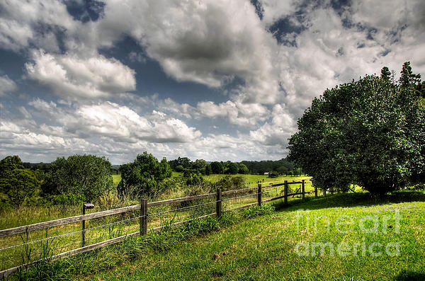 Cloudy Day In The Country Print by Kaye Menner