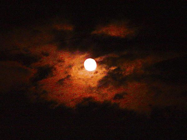 Cloudy Night Sky Print by Robert J Andler