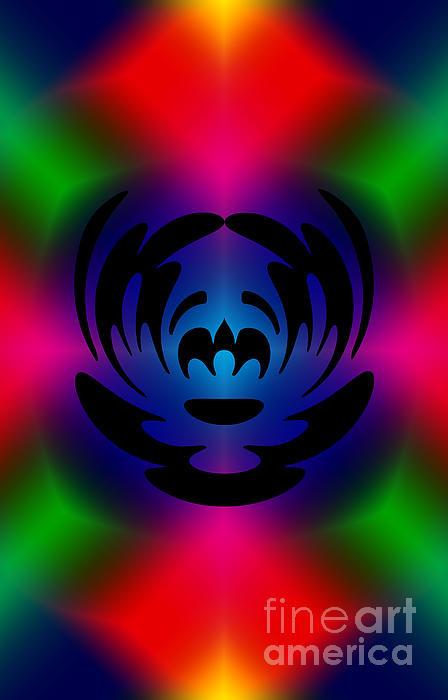 Clown In Color Print by Steve Purnell