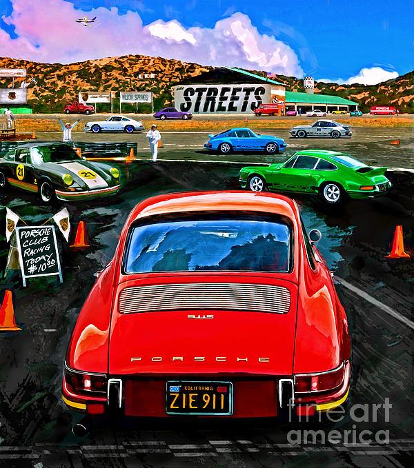 Club Racing Print by Alan Greene