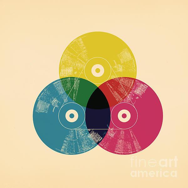 Cmyk Record Print by Budi Satria Kwan