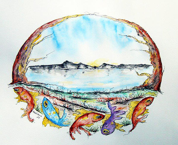 Coast Print by Natasa Dobrosavljev